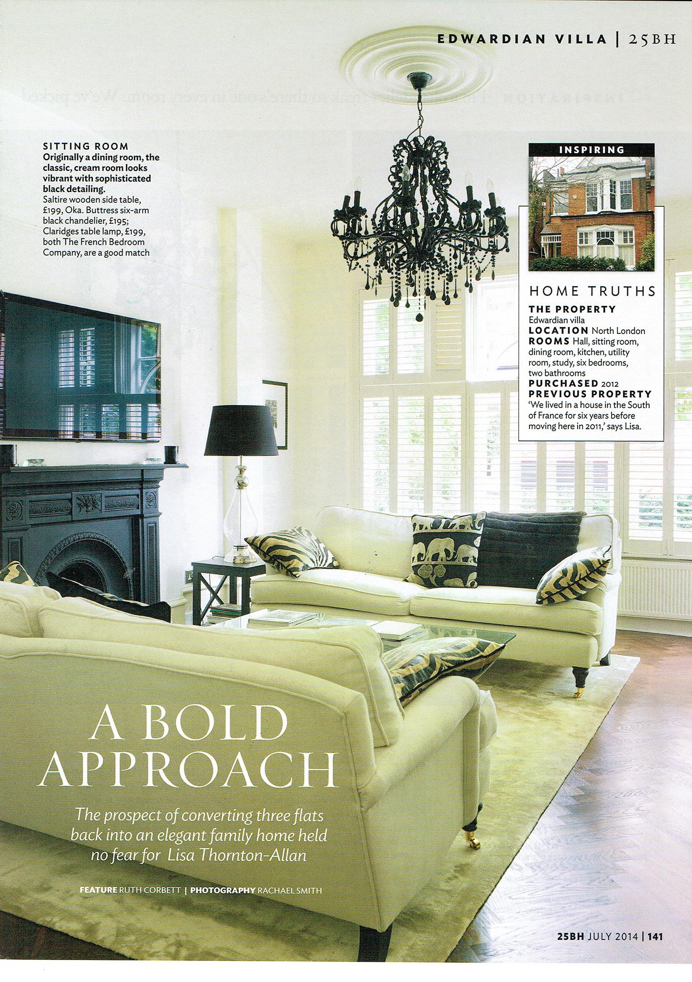 Thornton allan interiors press interior design for Interior design consultancy london