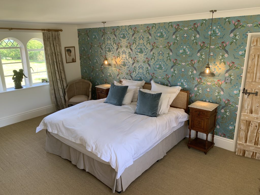 A Bedroom after renovation Grade 2 Listed Dowry House