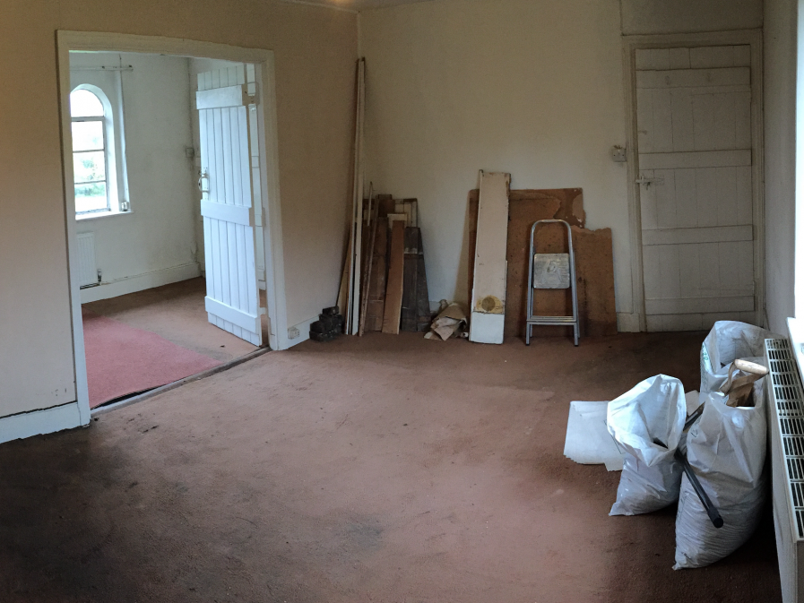 A Bedroom before renovation Grade 2 Listed Dowry House